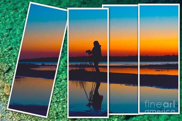 Photograph - Broken Sunset by Les Palenik