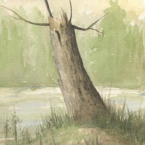 Painting - Broken Tree by John Holdway