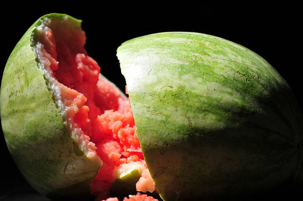Wall Art - Photograph - Broken Watermellon by Brian Foxx