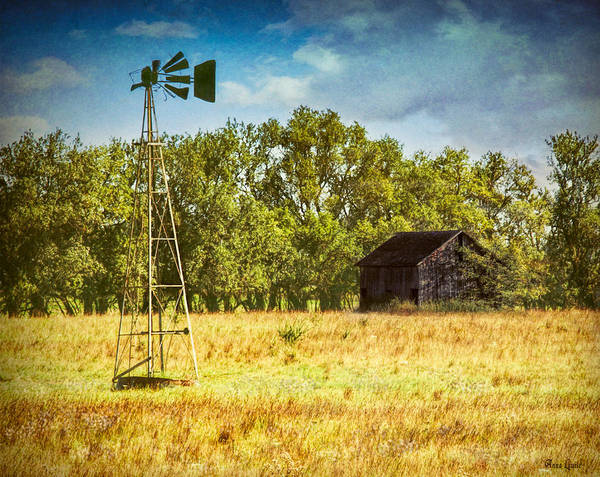 Photograph - Broken Windmill And Rustic Barn by Anna Louise