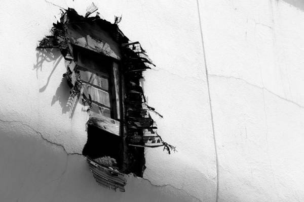 Broken Window Art Print