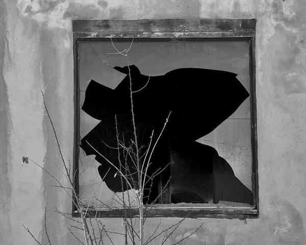 Photograph - Broken Window I Bw by David Gordon