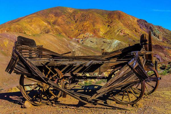 Wall Art - Photograph - Broken Wooden Wagon by Garry Gay