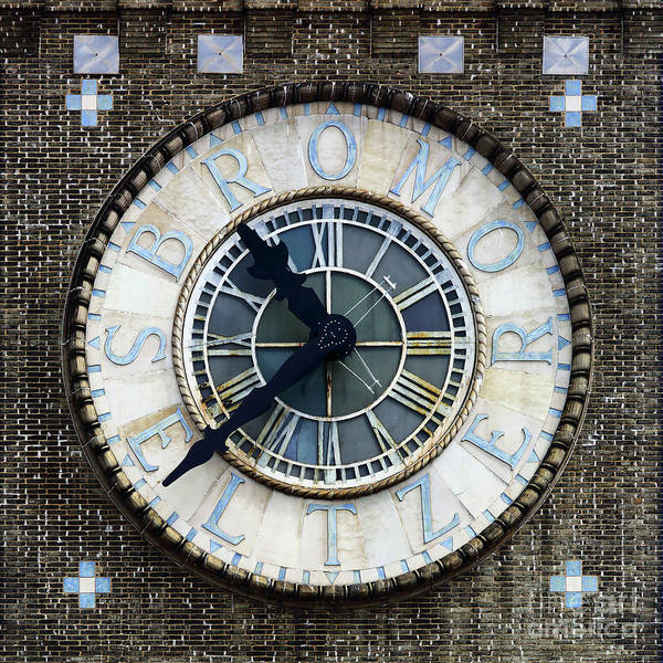 Photograph - Bromo-seltzer Tower Clock Baltimore by James Brunker