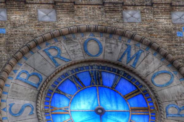 Photograph - Bromo Seltzer Tower Clock Face #3 by Marianna Mills