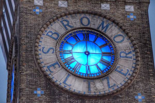 Photograph - Bromo Seltzer Tower Clock Face by Marianna Mills