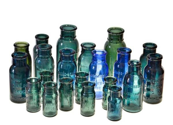 Photograph - Bromo Seltzer Vintage Glass Bottles Collection by Marianna Mills