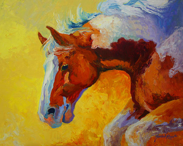 Wall Art - Painting - Bronc I by Marion Rose