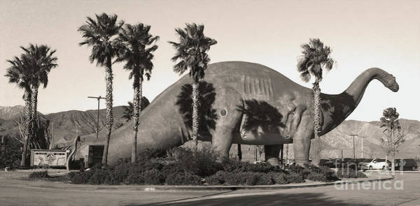 Photograph - Brontosaurus In Sepia by Gregory Dyer