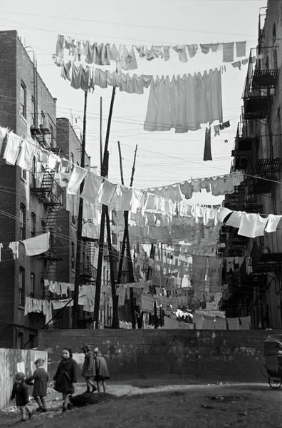 Tenement Photograph - Bronx Laundry Day 1936 by Daniel Hagerman