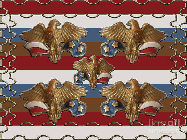Photograph - Bronze American Eagles by Rockin Docks Deluxephotos