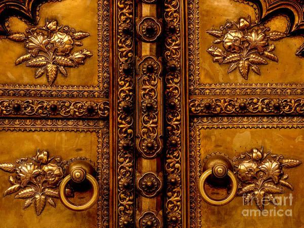 Photograph - Doors Of India - Bronze Door by Miles Whittingham