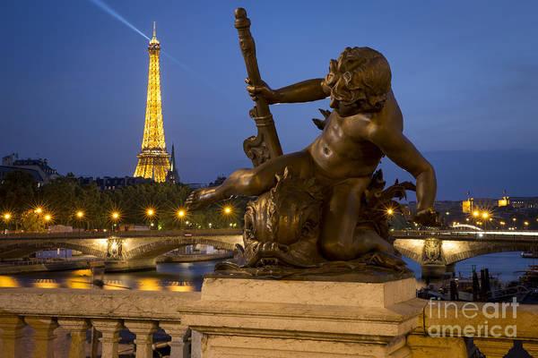 Baluster Wall Art - Photograph - Bronze Statue - Paris by Brian Jannsen