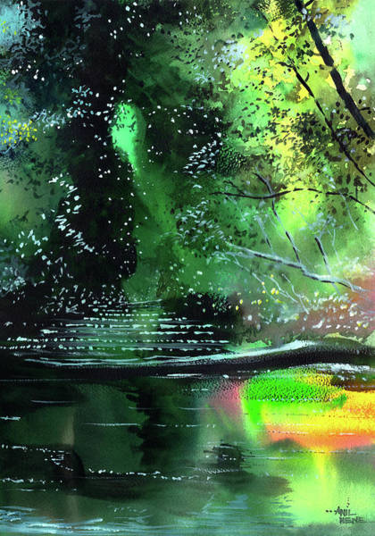 Painting - Brook by Anil Nene