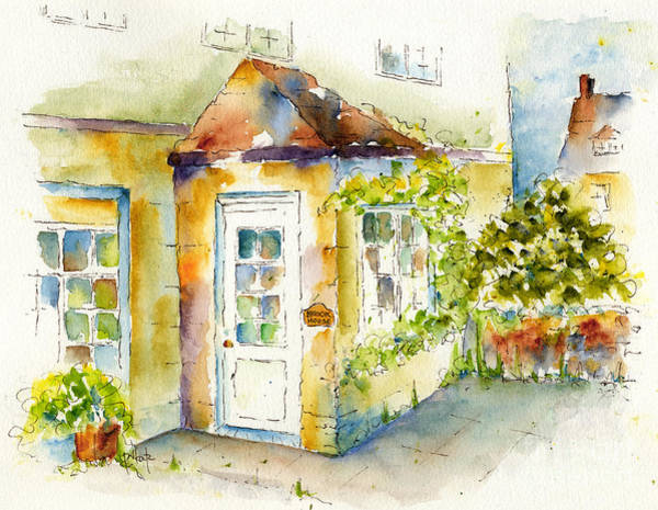 Porch Painting - Brook House by Pat Katz