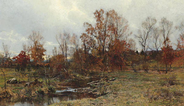 Bolton Wall Art - Painting - Brook In Autumn by Hugh Bolton Jones