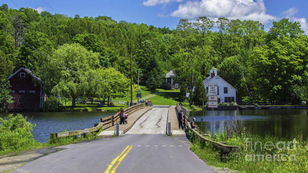 Photograph - Brookfield Floating Bridge by Scenic Vermont Photography