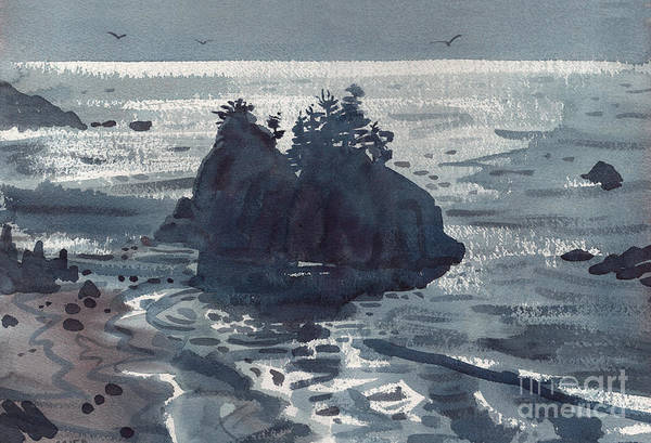 Outcrop Painting - Brookings Coast by Donald Maier