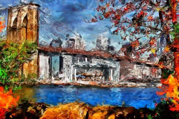 Digital Art - Brooklin Bridge by Caito Junqueira