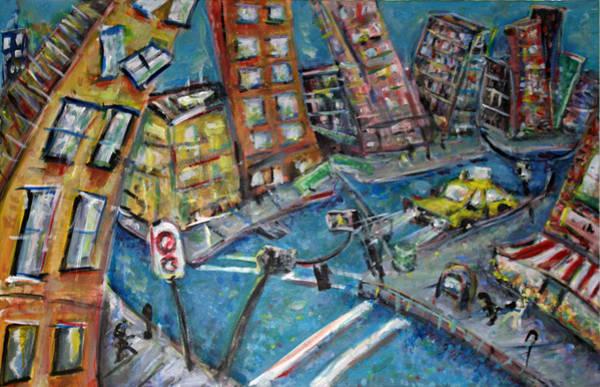 Wall Art - Painting - Brooklyn - Revisited 2016 by Jason Gluskin