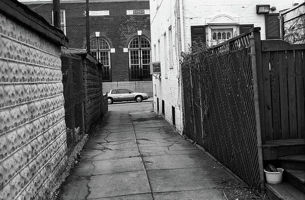 Photograph - Brooklyn Alley 2001 Bw by Frank Romeo