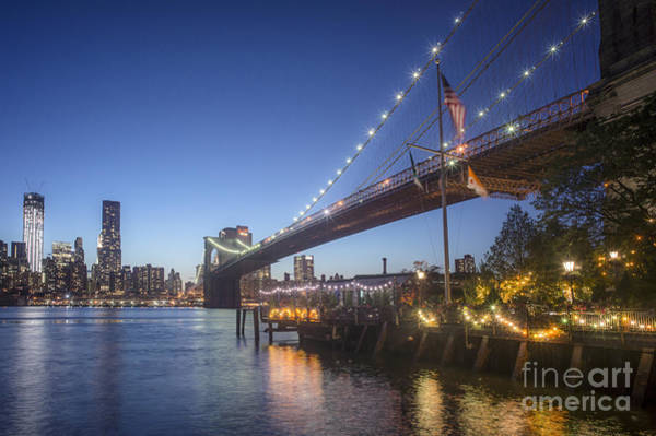 Photograph - Brooklyn Brdige New York  by Juergen Held