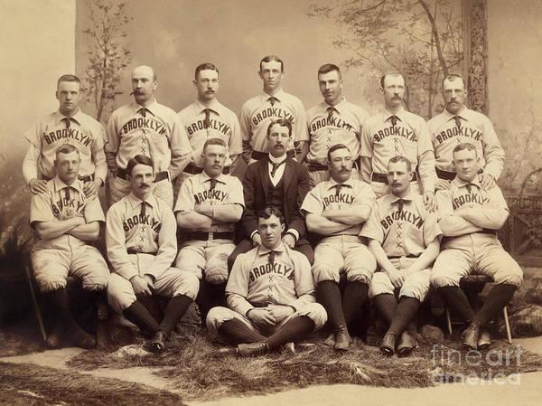 Wall Art - Photograph - Brooklyn Bridegrooms Baseball Team by American School