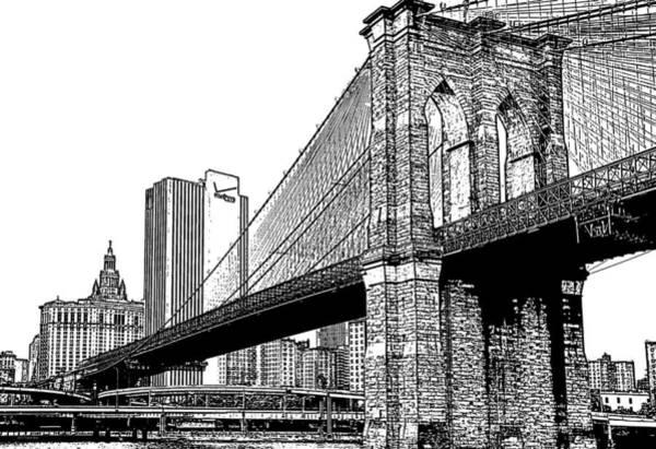 Photograph - Brooklyn Bridge 1.1 by Frank Mari