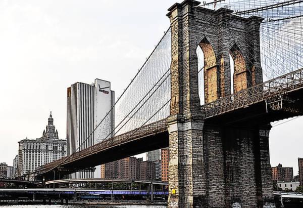 Photograph - Brooklyn Bridge 1.2 by Frank Mari