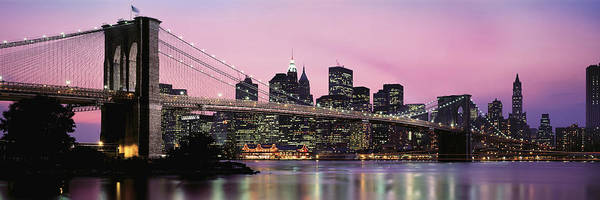 Wall Art - Photograph - Brooklyn Bridge Across The East River by Panoramic Images