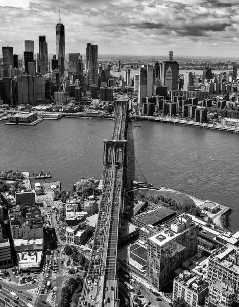 Photograph - Brooklyn Bridge Aerial by Rand