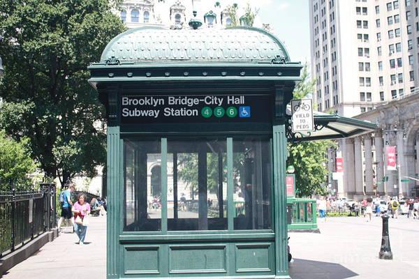 Wall Art - Photograph - Brooklyn Bridge And City Hall Subway Station by John Telfer