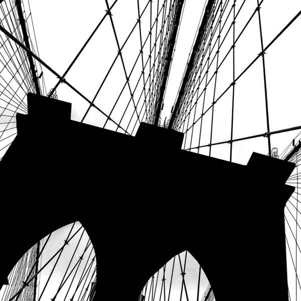 Wall Art - Photograph - Brooklyn Bridge Architectural View by Az Jackson