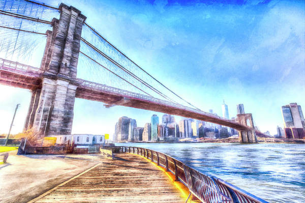Wall Art - Photograph - Brooklyn Bridge Art by David Pyatt