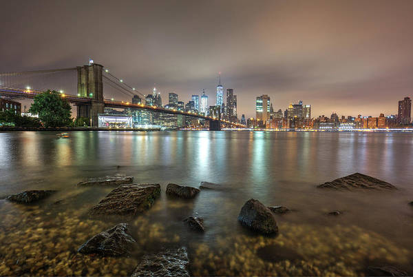 Photograph - Brooklyn Bridge At Sunrise  by Emmanuel Panagiotakis