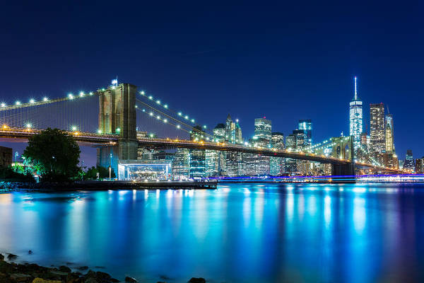 Villandry Photograph - Brooklyn Bridge Blues by Christopher Villandry