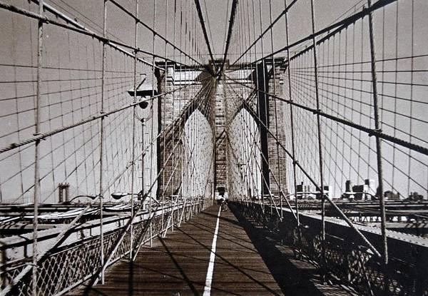 Photograph - Brooklyn Bridge By Art Farrar Photographs, Ny 1930 by Robert Grubbs
