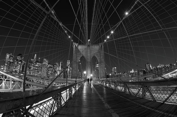Photograph - Brooklyn Bridge Cables Skyline by Clint Buhler