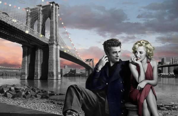 Boulevard Painting - Brooklyn Bridge by Chris Consani