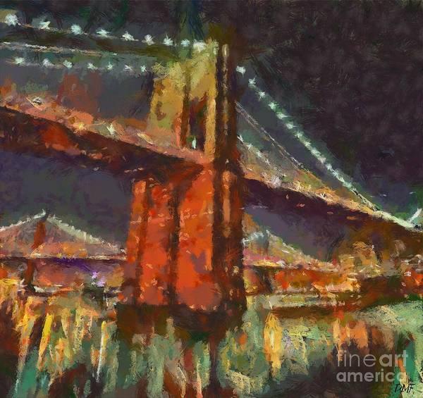 Wall Art - Painting - Brooklyn Bridge by Dragica  Micki Fortuna