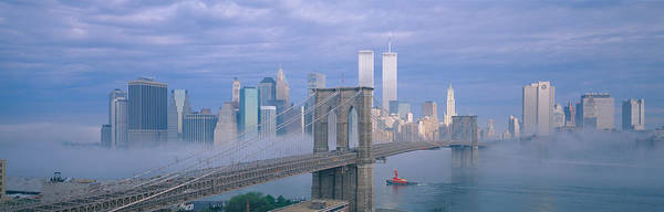 N.c Wall Art - Photograph - Brooklyn Bridge, East River, New York by Panoramic Images