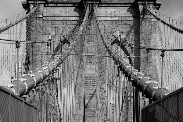 Cable-stayed Bridge Photograph - Brooklyn Bridge by Emmanuel Panagiotakis