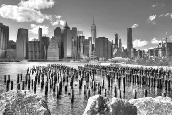 Wall Art - Photograph - Brooklyn Bridge In Black And White by Geraldine Scull
