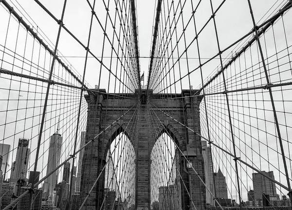 Photograph - Brooklyn Bridge Look Up by Rand