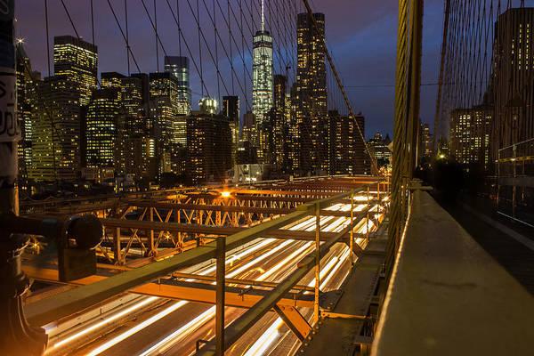 Shutter Speed Photograph - Brooklyn Bridge by Martin Newman