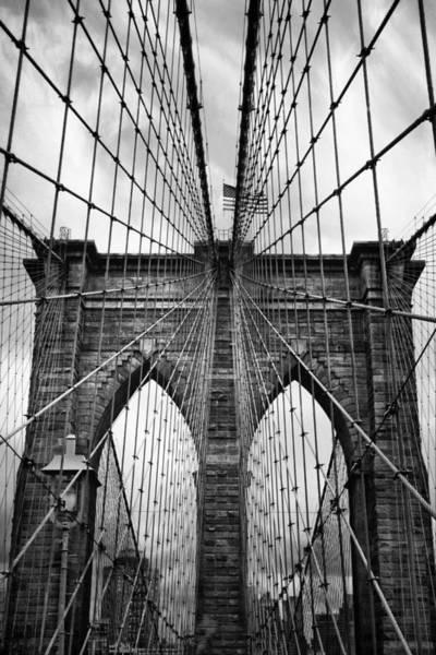 Photograph - Brooklyn Bridge Mood by Jessica Jenney