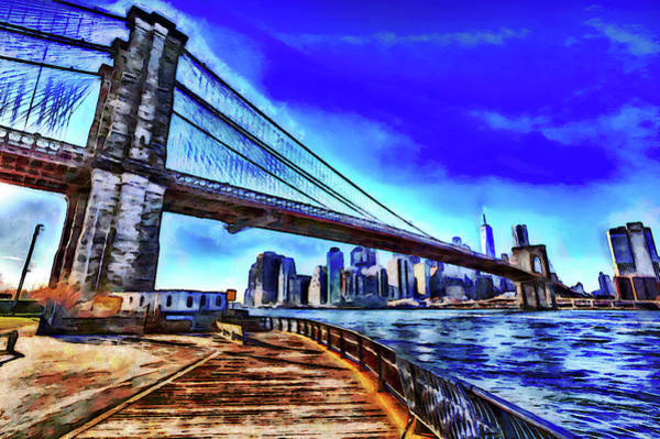 Wall Art - Photograph - Brooklyn Bridge Ny Art by David Pyatt