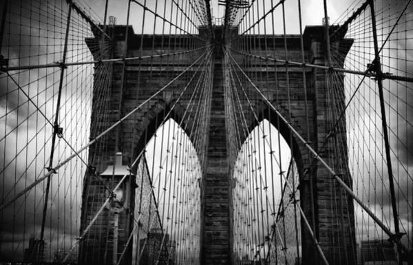 Photograph - Brooklyn Bridge Noir by Jessica Jenney