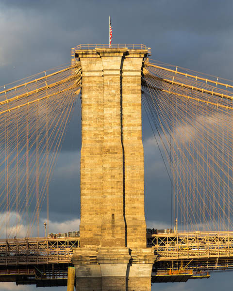 Photograph - Brooklyn Bridge North Pylon by SR Green