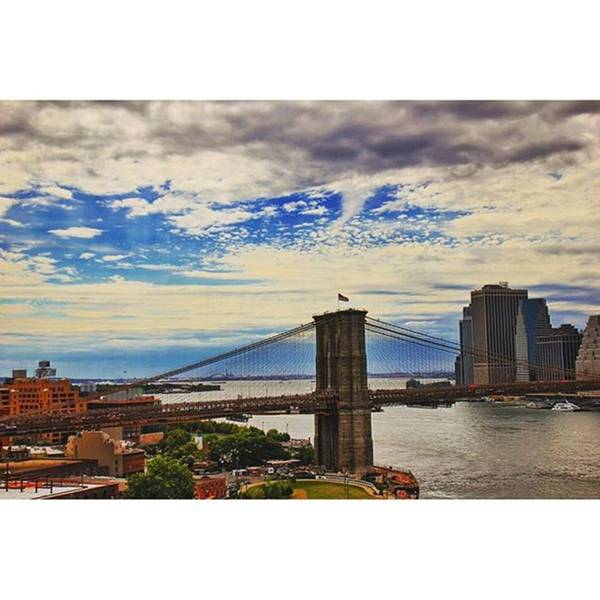 Wall Art - Photograph - #brooklyn #bridge #nyc #usa by Luisa Azzolini